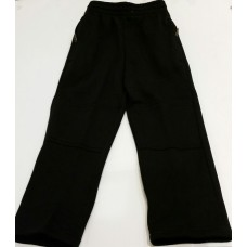 DOUBLE KNEE TRACK PANTS / Black