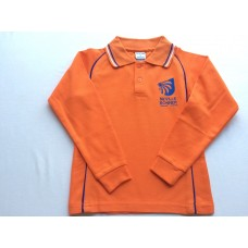 "Bonner Long/Sleeve Polo ""Orange"""