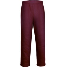 DOUBLE KNEE TRACK PANTS / Maroon