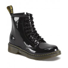 Delaney Black Patent Leather Children's Boots