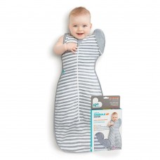 Swaddle Up 50/50 Lite Stripes Gray