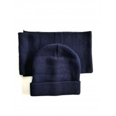 Navy Beanie and Scarf