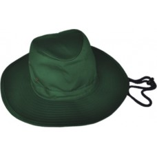 Bottle Green Wide Brim Hat