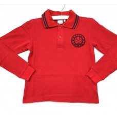 Majura Long Sleeve Red Polo